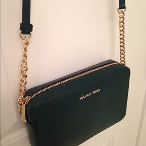 Cross body Michael Kors green purse